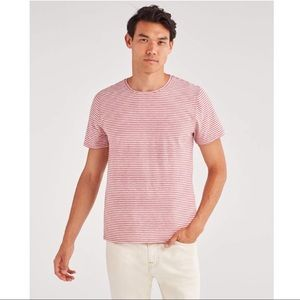 7 For All Mankind Red and White Stripes Men's Tee